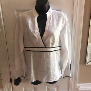 Tweeds  Beautiful Medium Linen Top 🌹